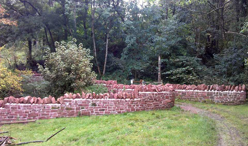 Photo: Ivegill packhorse bridge walls rebuilt